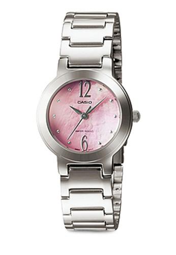 Casio LTP-1191Aesprit au-4A1DF 不銹鋼小圓錶, 錶類, 不銹鋼錶帶