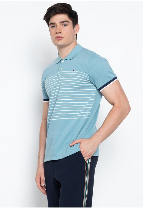 Nautica Mens Multi Color Striped Casual Polo Shirtsize Large Making Things Convenient For The People Men's Clothing