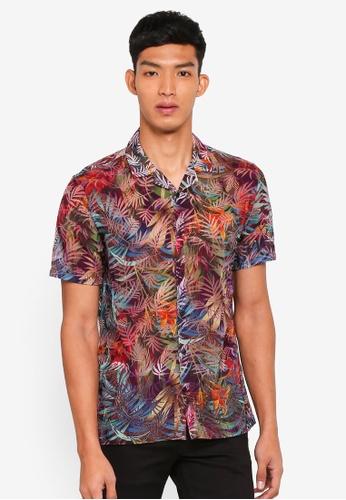 Topman multi Rainbow Burnout Short Sleeve Shirt 4A12DAA46D02C6GS_1