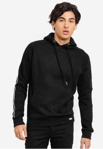 Brave Soul black Contrast Piping Hoodie 35E26AA8E14C96GS_1