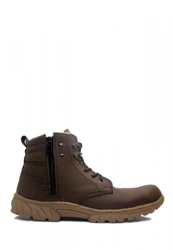 Cut Engineer brown Cut Engineer Zipper Safety Boots New Kansas Tactikal Dark Brown F2BBCSH1ECCD80GS_1