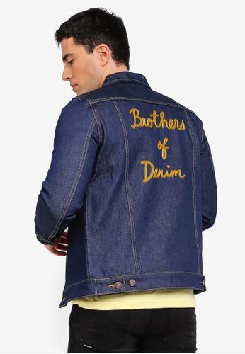 Jack & Jones 藍色 刺繡丹寧外套 DFAE6AA7911BD1GS_1