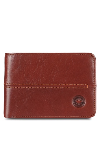 Lumberjacks brown Bi-Fold Leather Wallet LU545AC0RH0FMY_1