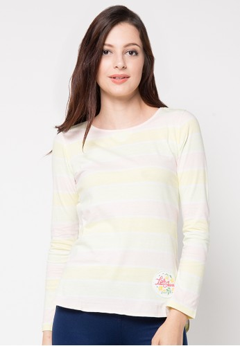 LOIS JEANS white Long Sleeve T-Shirt LO391AA73YLAID_1