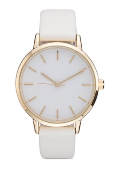 Needle Dial Skinny Strap Watch