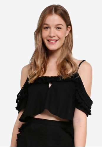 River Island black Florence Co-Ord Top F446FAA1379457GS_1