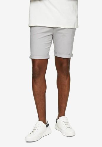 Topman grey Light Grey Skinny Chino Shorts 958EFAAE243595GS_1