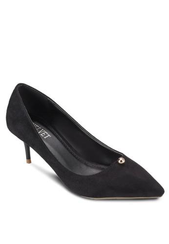 鉚釘尖頭仿麂皮低esprit 京站跟鞋, 女鞋, 鞋