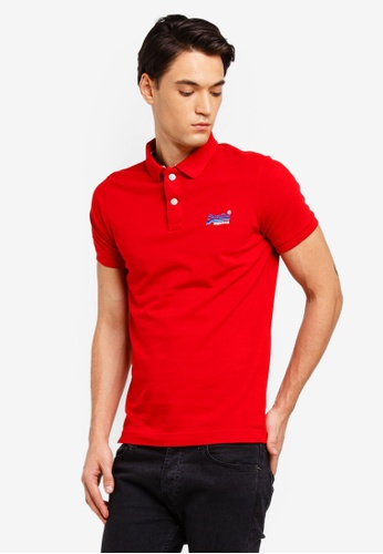 Superdry 紅色 經典短袖POLO衫 A9048AAB0FC67EGS_1