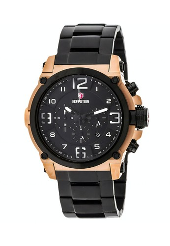 Expedition black Expedition Jam Tangan Pria - Black Rosegold - Stainless Steel - 6605 MCBBRBA F95FEACED3C5C9GS_1