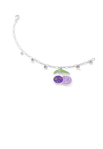 Glamorousky purple Cutie Purple Berry Anklet with Purple Austrian Element Crystals BC6D8ACFD968C4GS_1