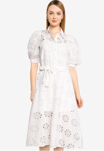 Desigual white Lace Shirt Dress D4F77AA76C0496GS_1