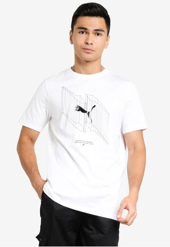 Puma white Avenir Men's Tee 8E559AA8A636BEGS_1