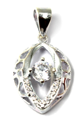 Venice Jewelry silver Grand Princess of Crytal Stone Pendant (Silver) VE564AC80RTNPH_1