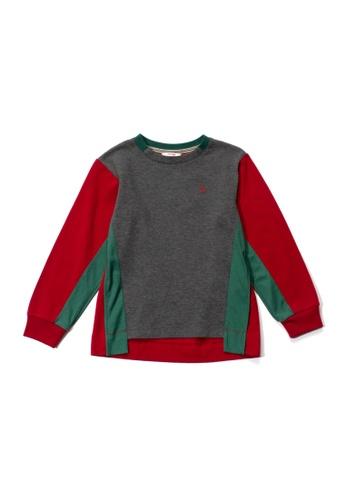 PONEY grey Poney Baby Josiah Colour Block Round Neck Sweater 15FF9KA779E999GS_1