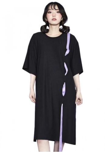 A X A black Eyelet Dress AX230AA64CDVSG_1