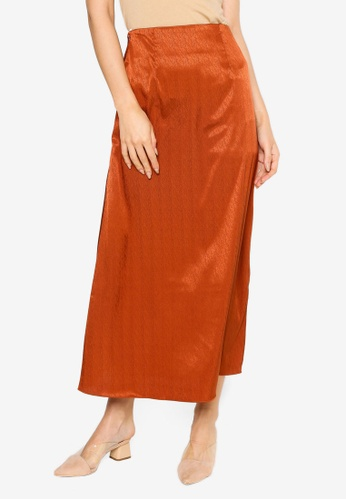 Summer Shop orange Andrea Satin Skirt 27563AA071EA33GS_1