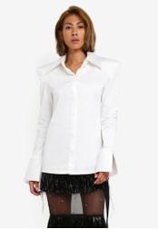 AfiqM white Classic White Padded Shirt AF546AA0S2M5MY_1