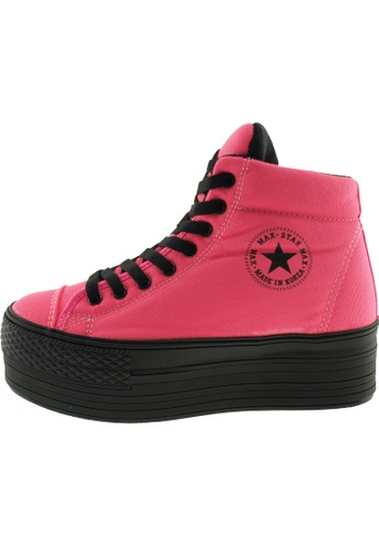 Maxstar Maxstar Women's C50 Padded Lining Hidden Heel Platform Canvas Sneakers US Women Size MA168SH82BZDHK_1