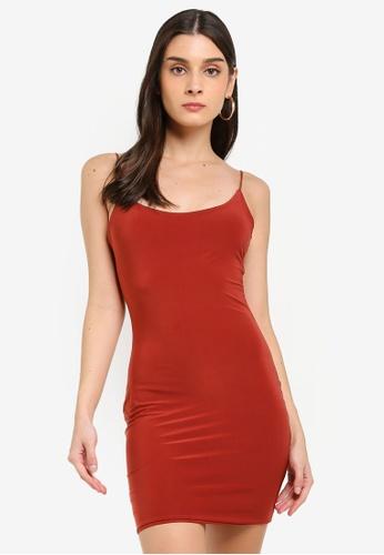 MISSGUIDED 紅色 層次短洋裝 C5847AA1606F34GS_1