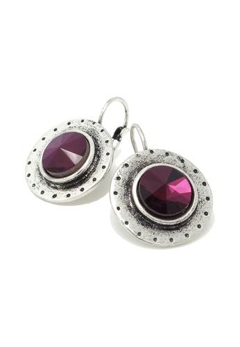 Jaysa Collection purple Royalty Pansy Rhinestone Stud Earrings JA875AC66PMRSG_1