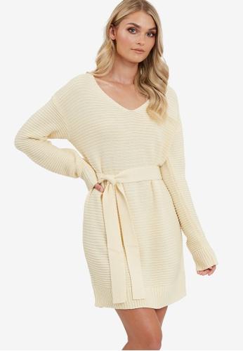 Calli beige Jayda Jumper Dress 59453AA7AC6D0BGS_1