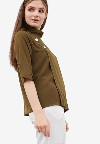 Berrybenka green Graylin Top 381E5AAC415077GS_1