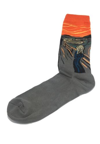 Splice Cufflinks Illustrious Series Orange and Grey The Scream Socks SP744AA79XIISG_1