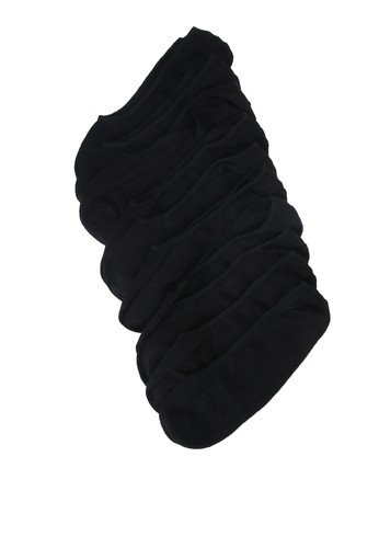 Resteröds black 5 Pack No Show Socks E587BAA40CBF28GS_1
