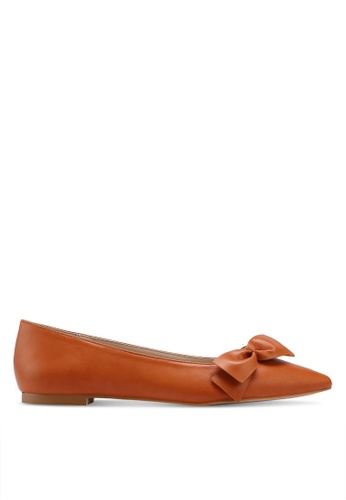 ZALORA brown Flats with Bow F5D19SH11AFB48GS_1