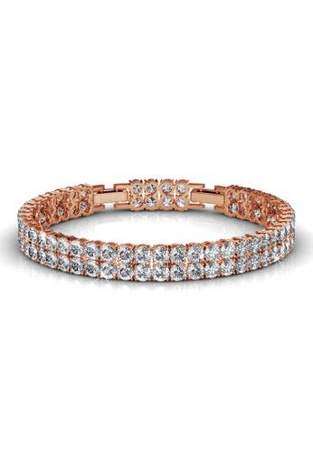 Krystal Couture gold KRYSTAL COUTURE Jubilee Bracelet Embellished with Swarovski® crystals 978C4AC43C01FEGS_1