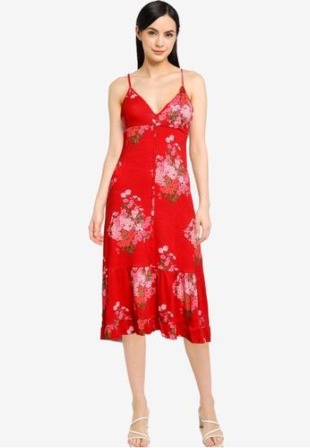 Desigual red Flared Flounce Short Dress CBBE0AA06E2A99GS_1