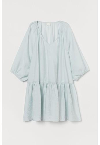 H&M turquoise Airy dress 0D536AA1E170E4GS_1
