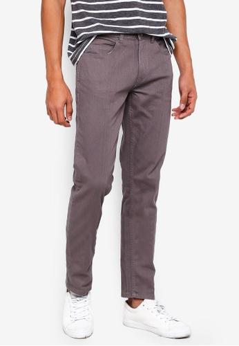threads by the produce grey Twill Slim Jeans 8B872AAF1FF076GS_1