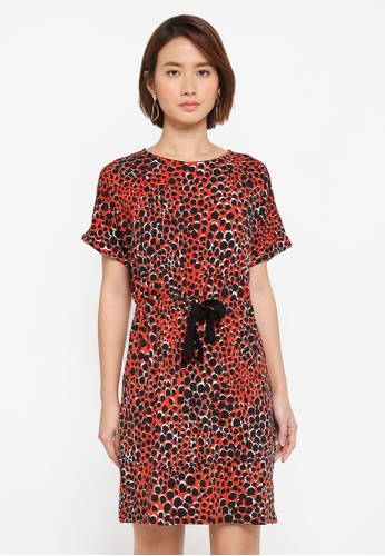 WAREHOUSE multi Cheetah Print Channel Dress 9FDDCAA0A210EDGS_1