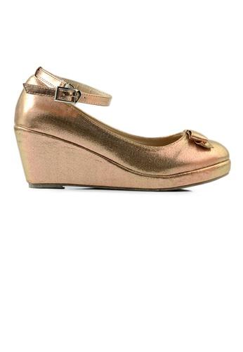 SHINE gold SHINE Metallic Angel Strap Wedges 01E60SHAC2D801GS_1