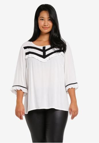Junarose white Plus Size Shara Blouse JU731AA0ST1FMY_1