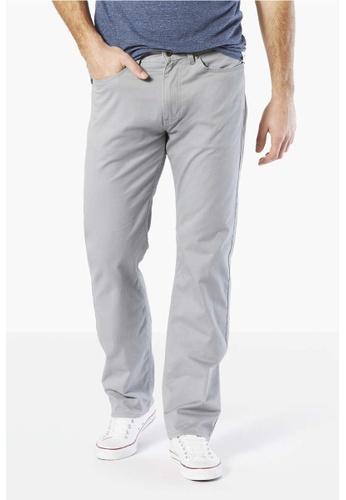 Dockers grey Dockers 5 Pocket Straight Pants Foil DO282AA01ZEGSG_1