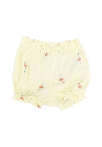 GAP yellow Print Shorts 53E8BKA18AB2FBGS_1