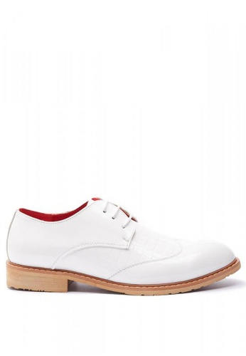 Kings Collection white Virotto Leather Shoes 13937SH63E2D79GS_1