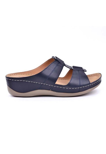 BNC navy Slide Sandal A6ACESH284DF30GS_1