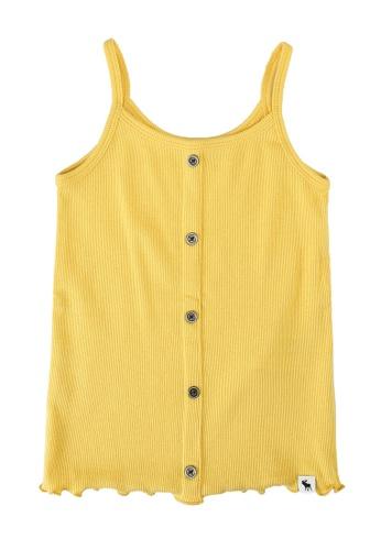 Abercrombie & Fitch yellow Buttonthru Rib Cami Top 3A246KA550F7EDGS_1