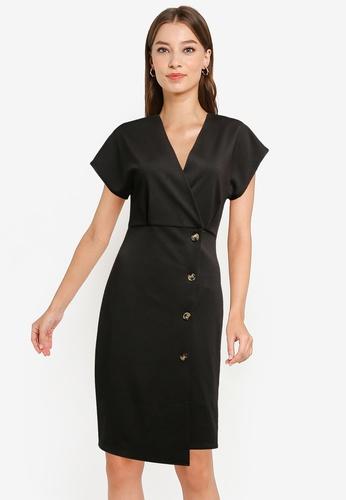 ZALORA WORK black Extended Sleeve Sheath Dress CE064AA0468EDDGS_1