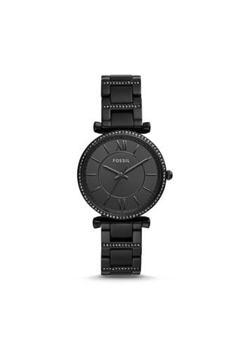 Fossil black Fossil Carlie - Black Dial 35mm - Stainless Steel - Black - Jam Tangan Analog Wanita - ES4488 113E0AC8264765GS_1