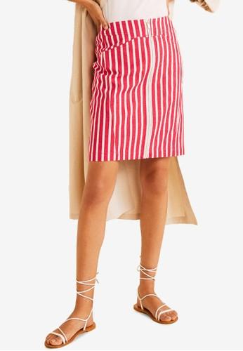 5d7f2600e6 Jual Mango Striped Denim Mini Skirt Original   ZALORA Indonesia ®