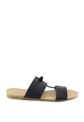London Rag black Stephanie Flat Sandal 38377SH1DA4D16GS_1