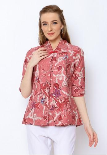 Adinata Batik pink JENNIE BLOUSE 675EAAA07A6F6BGS_1