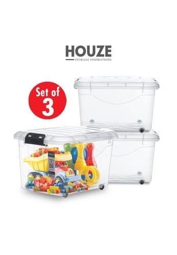 HOUZE [SET OF 3] HOUZE 60L Motif Storage Box with Wheels 01AA7HL4C2DDF4GS_1