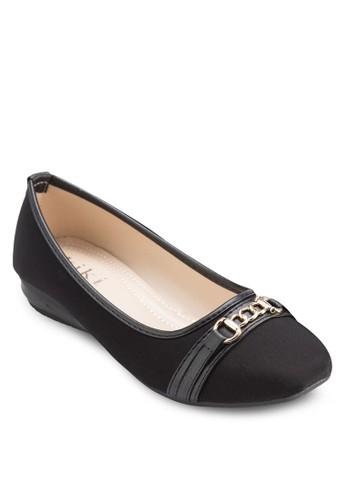 鏈飾zalora時尚購物網評價方頭平底鞋, 女鞋, 芭蕾平底鞋
