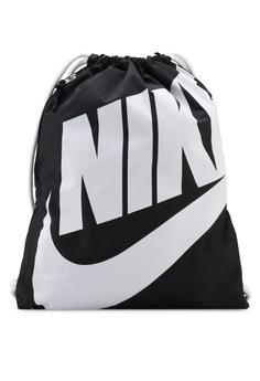 Nike black Unisex Nike Heritage Gym Sack Bag 665E7ACC0ED867GS 1 fe2189e4c3f58